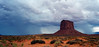 Rain and butte, Monument Valley, Arizona