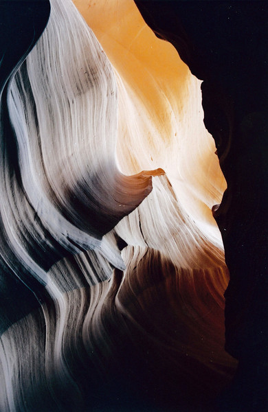 ANTELOPE CANYON NEAR PAGE, ARIZONA: A direct photo - no dark room or Photoshop manipulations.