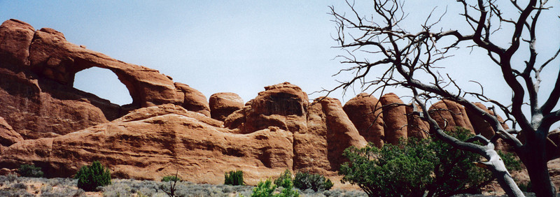 ARCHES NATIONAL PARK, UTAH: Skyline Arch.