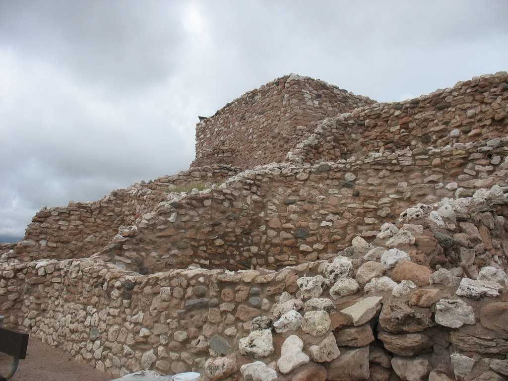 This village reached its maximum size in the 1300s and was occupied for another century.<br /> <br /> The original pueblo was two stories high in places with 77 ground-floor rooms.