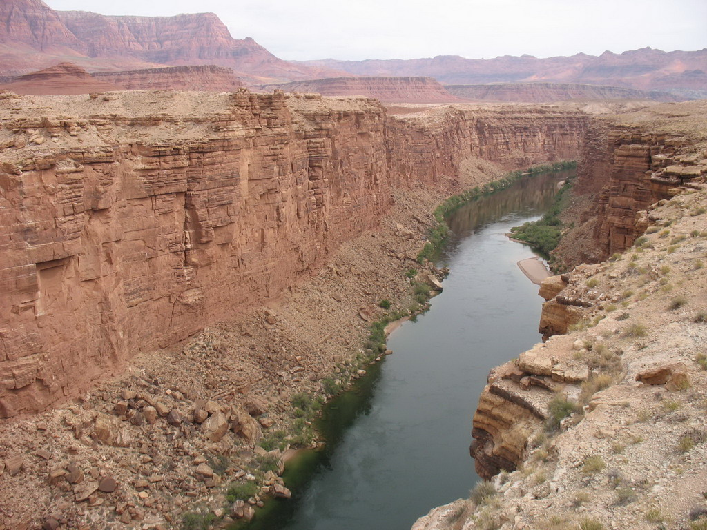 Looking north into the Colorado River gorge.