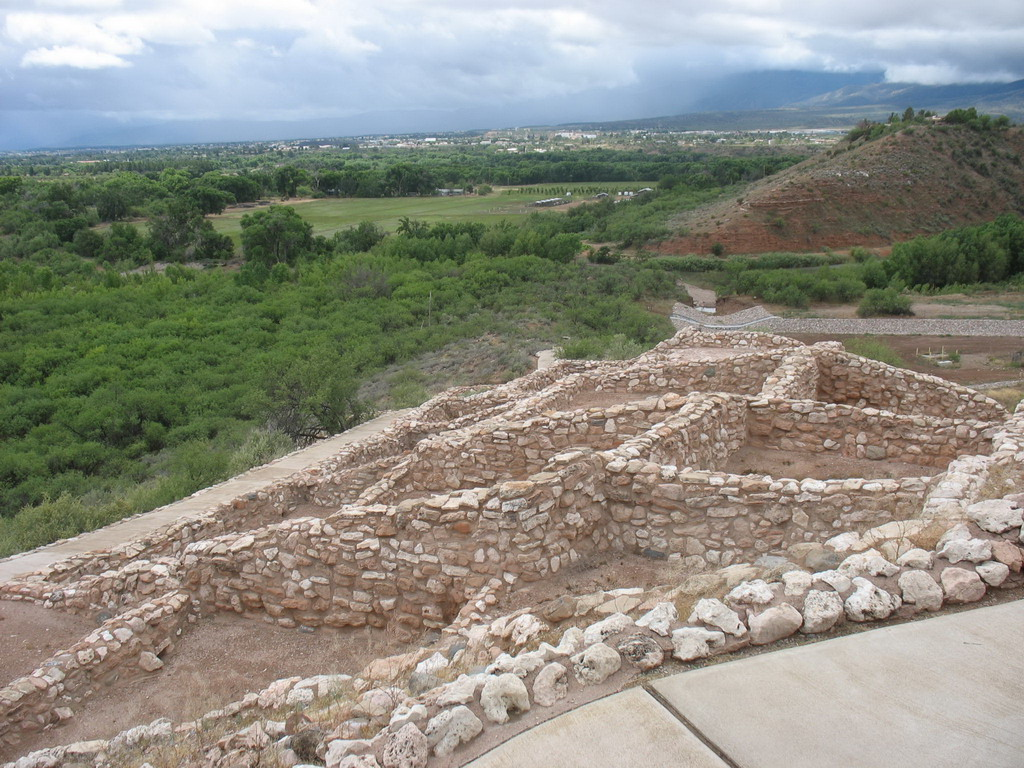 Looking into the Verde Valley and overlooking some of the ruins.