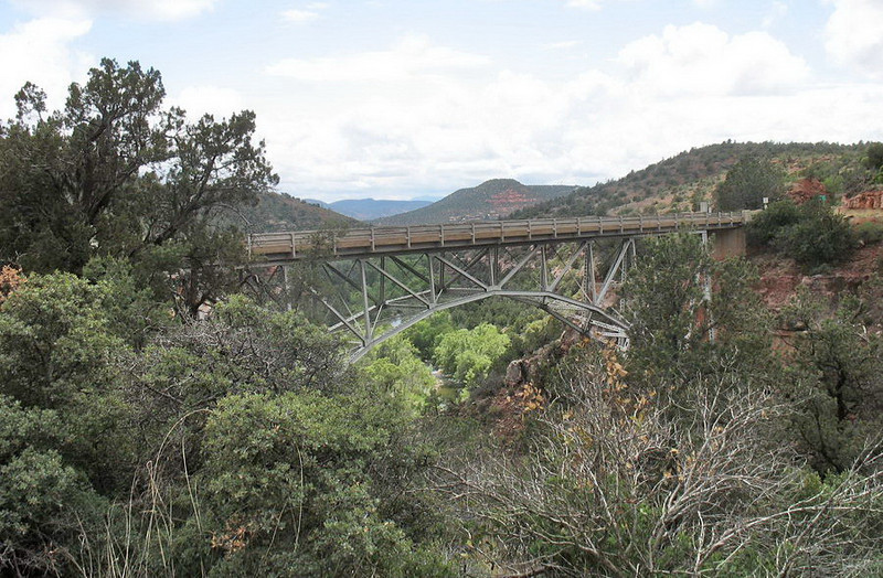 We took US 89 from Cottonwood to Flagstaff through the lovely Oak Creek Canyon. This bridge is just outside Sedona.