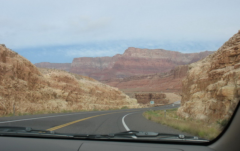 This is the terrain on 89A as we approached the Colorado River.