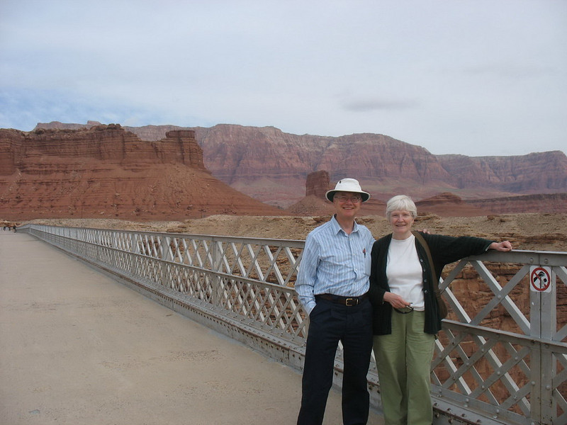 Here we are on the older bridge.