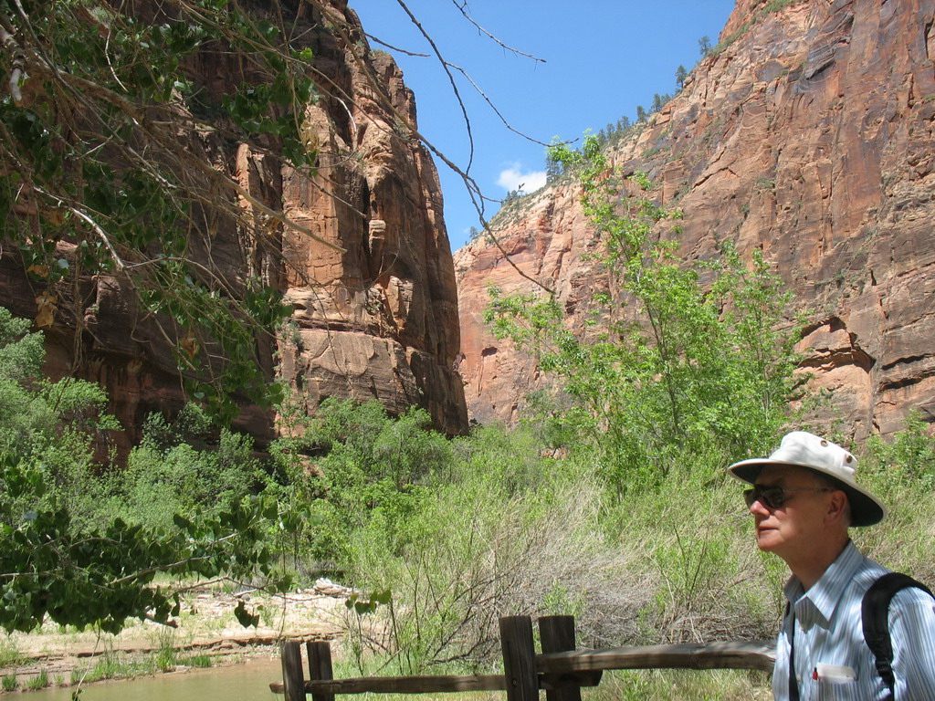 At the north end of the shuttle bus route,there is a trail along the Virgin River which we enjoyed.
