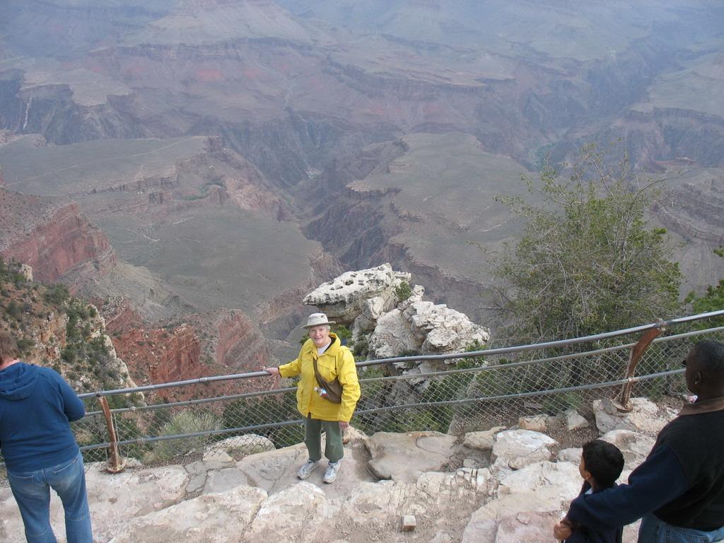 Ann near the railing.