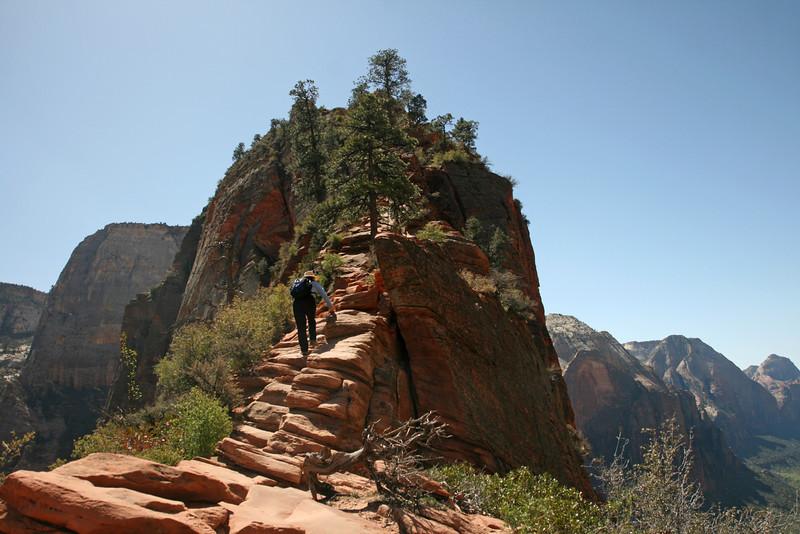 Utah - Zion National Park, climbing to Angel's Landing