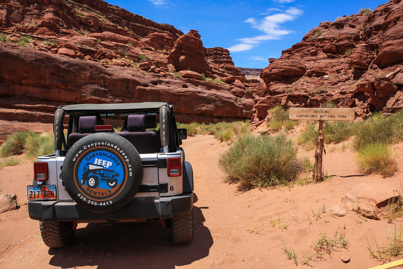 Shafer Trail, entering Canyonlands National Park