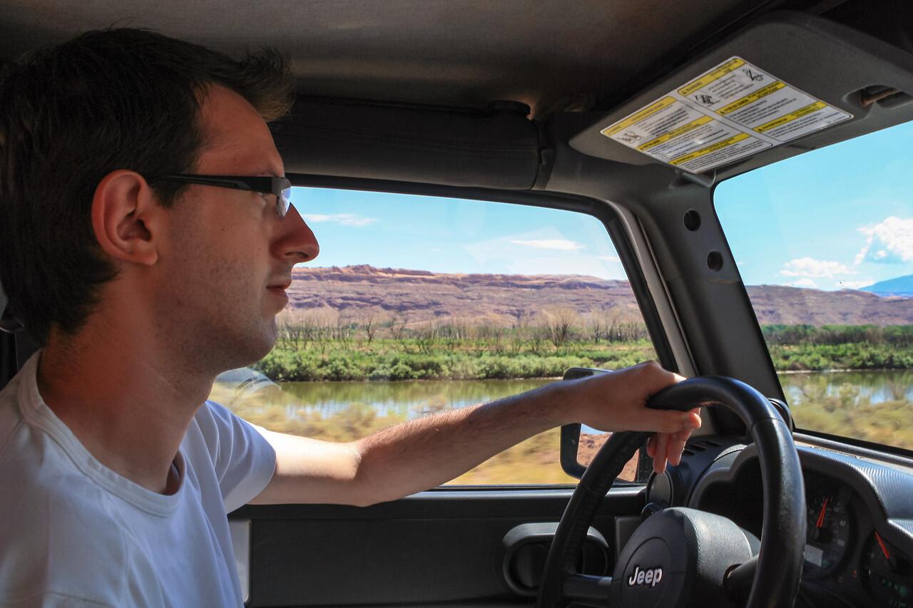 Leaving Moab on the Potash Road