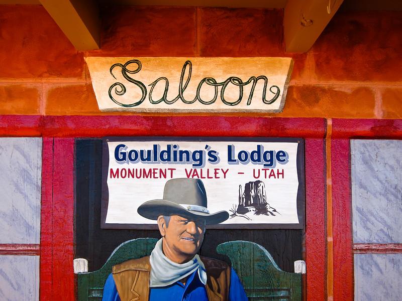 John Wayne on Sign in Monument Valley, Utah
