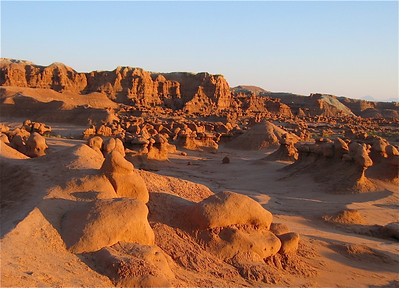 Goblin Valley at sunset. Utah, USA.