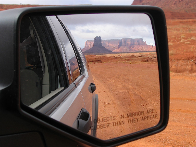 Monument in the Mirror. Monument Valley Navajo Tribal Park, Utah, USA.