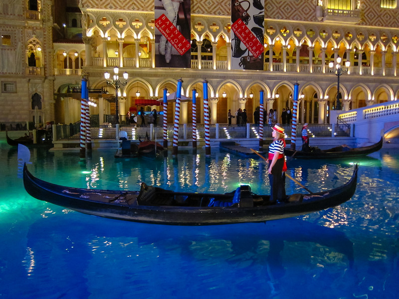 Gondola at Caesar's Palace Hotel in Las Vegas, NV