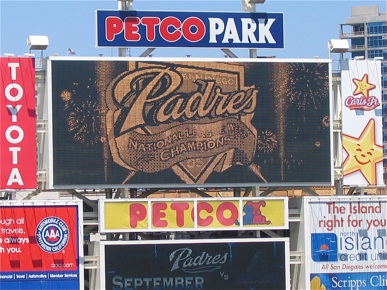 The San Diego Padres. San Diego, California, USA.
