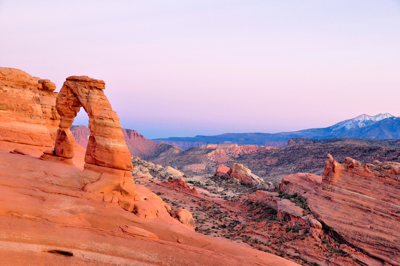 Delicate Arch Hovers Over Valley
