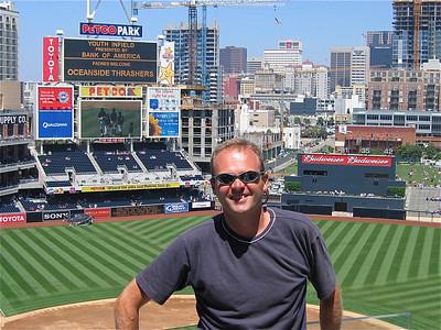 Het Petco Park van de San Diego Padres staat midden in het centrum van de stad. San Diego, California, USA.