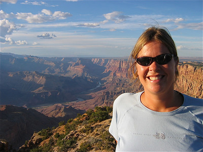 Uitzicht over de Colorado River, Desert Viewpoint. Grand Canyon, Arizona, USA.