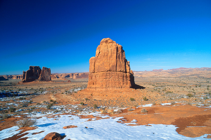 Rock tower, Arches National Park, Utah.