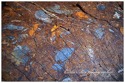 Mosaic canyon walls.