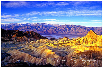 Death valley sunrise. 35 mm slide.