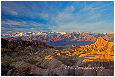 Death valley sunrise. Single image without graduated neutral density filter.