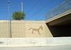 Highway wall art in Phoenix, AZ.
