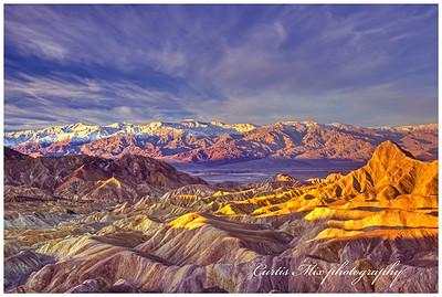 Death valley sunrise. HDR composite.