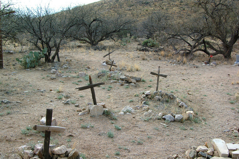 Old graveyard outside of Helvetia, an Arizona ghost town.