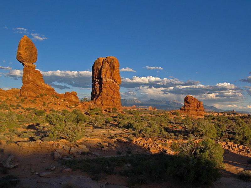 Balanced Rock near sunset