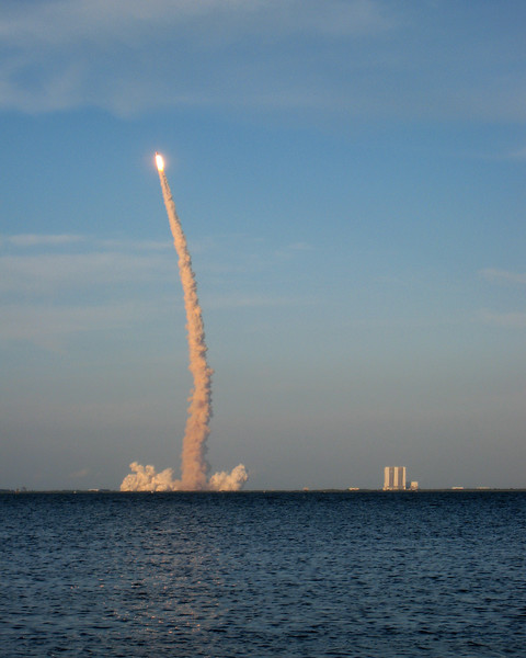 Space Shuttle Atlantis - STS-117 taking off on June 8, 2007.