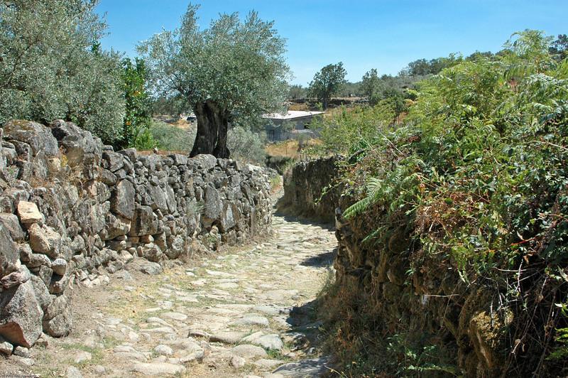 Roman road, Acebo, Spain