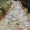 Roman road in Acebo, Spain.