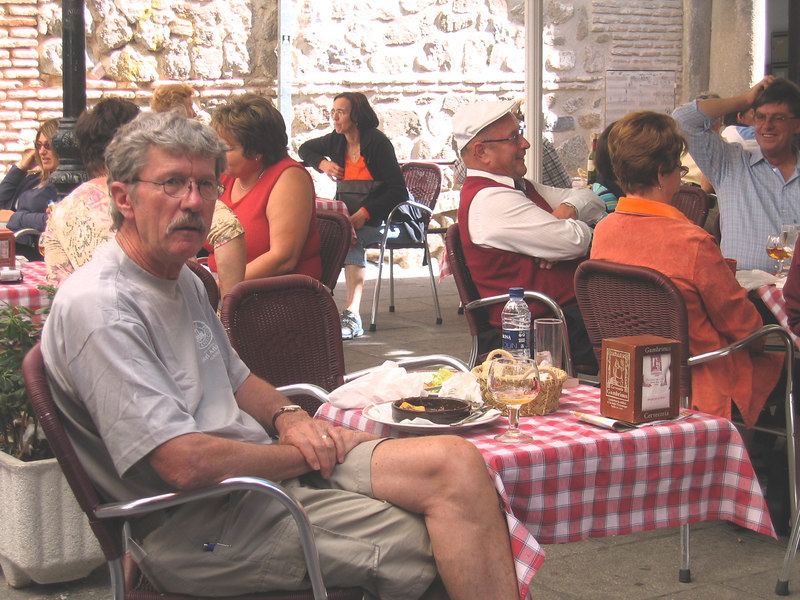 Outdoor cafe, Toledo