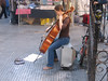 Busker at the Madrid street market