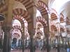 Moorish arches in the Mezquita in Cordoba