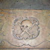 Tombstone in floor