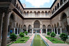 For many years, the courtyard was entirely paved in marble with a fountain in the center. However, historical evidence showed the gardens and the reflecting pool were the original design and this arrangement was restored