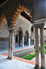 """Patio de las Doncellas or """"The Courtyard of the Maidens""""  The lower level of the Patio was built for Pedro I (Pedro the Cruel) and includes inscriptions describing Pedro as a """"sultan."""""""