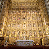 The supreme masterpiece of the cathedral was the life's work of a single craftsman, Fleming Pieter Dancart. Composed of 45 carved scenes from the life of Christ, it is carved in wood and covered with staggering amounts of gold. It is the largest and richest altarpiece in the world.