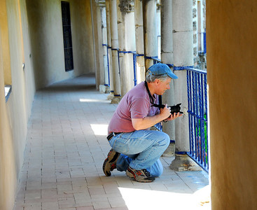Jerry framing up a shot at the Alcazar