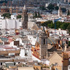 Looking over Seville from the bell tower of the Cathedral of Seville