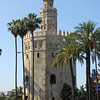 Torre del Oro was built as a watchtower on the river by the Almohad dynasty.  It also contolled a chain across the river to protect the port.