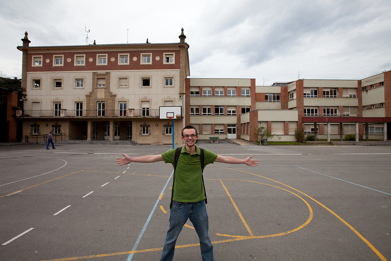 Jonathan at his school that he teaches kids English.<br /> <br /> Llodio, Spain