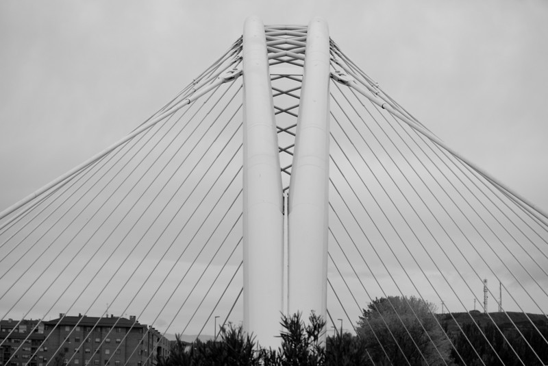This is the bridge over the Ebro river in Legrono Spain.