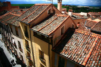 View from our hotel room at Hotel Infanta Isabel in Segovia.