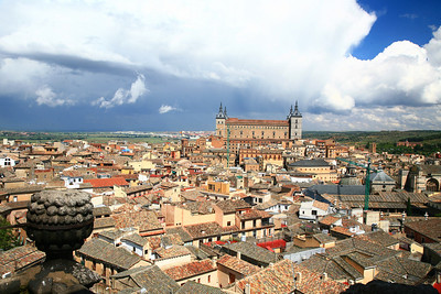 View of Toledo from a cathedral whose only reason for existing is to give tourists this view.