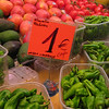 Pimentos de Padron at the Boqueria market..if only it were as cheap and plentiful here!