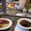 May 15, 2010: First meal in Barcelona...lunch at Bar Pinotxo<br /> Drinks: 1 cava, 1 beer<br /> Food: gambas in olive oil, beef stew