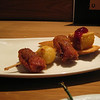 I've had bacon-wrapped dates with cheese before, but they weren't breaded and deep-fried like this one...so yummy!